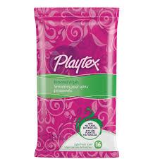 Playtex personal wipes